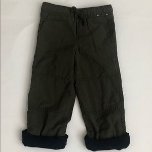 NWOT Gymboree Fleeced Lined Drawstring Pants-4T